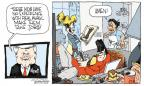 Cartoonist Signe Wilkinson  Signe Wilkinson's Editorial Cartoons 2011-12-07 division of labor