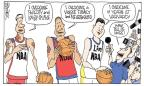 Cartoonist Signe Wilkinson  Signe Wilkinson's Editorial Cartoons 2012-02-23 basketball