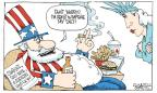 Cartoonist Signe Wilkinson  Signe Wilkinson's Editorial Cartoons 2012-04-02 food