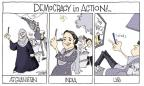 Cartoonist Signe Wilkinson  Signe Wilkinson's Editorial Cartoons 2014-05-22 voter apathy