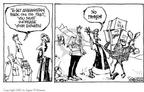 Cartoonist Signe Wilkinson  Signe Wilkinson's Editorial Cartoons 2002-04-03 heroin
