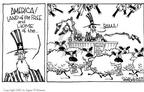 Cartoonist Signe Wilkinson  Signe Wilkinson's Editorial Cartoons 2002-06-05 patriotic symbol