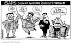 Cartoonist Signe Wilkinson  Signe Wilkinson's Editorial Cartoons 2003-04-18 Korean war