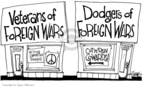 Cartoonist Signe Wilkinson  Signe Wilkinson's Editorial Cartoons 2005-11-21 Vietnam War veteran