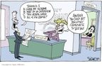 Cartoonist Signe Wilkinson  Signe Wilkinson's Editorial Cartoons 2007-03-29 human resources