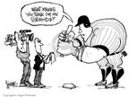 Cartoonist Signe Wilkinson  Signe Wilkinson's Editorial Cartoons 2003-11-17 muscle