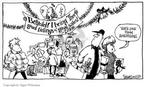 Cartoonist Signe Wilkinson  Signe Wilkinson's Editorial Cartoons 2003-12-02 Christmas marketing