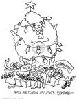 Cartoonist Signe Wilkinson  Signe Wilkinson's Editorial Cartoons 2002-12-23 christmas tree light