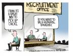 Cartoonist Mike Smith  Mike Smith's Editorial Cartoons 2012-11-15 military recruit