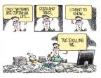 Cartoonist Mike Smith  Mike Smith's Editorial Cartoons 2013-04-12 death and taxes