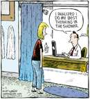 Cartoonist Dave Coverly  Speed Bump 2009-04-03 work at home