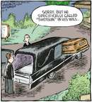 Cartoonist Dave Coverly  Speed Bump 2009-10-09 casket