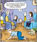 Cartoonist Dave Coverly  Speed Bump 2010-07-08 dog and cat