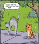 Cartoonist Dave Coverly  Speed Bump 2010-10-14 dog and cat