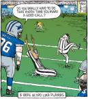 Cartoonist Dave Coverly  Speed Bump 2010-11-22 sporting event