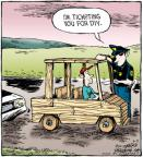 Cartoonist Dave Coverly  Speed Bump 2011-06-02 wood