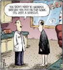 Cartoonist Dave Coverly  Speed Bump 2012-01-12 barber shop