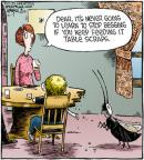 Cartoonist Dave Coverly  Speed Bump 2012-02-17 wood