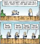 Cartoonist Dave Coverly  Speed Bump 2012-10-22 fence