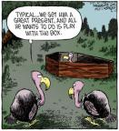 Cartoonist Dave Coverly  Speed Bump 2013-04-11 casket