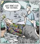 Cartoonist Dave Coverly  Speed Bump 2013-07-22 body art