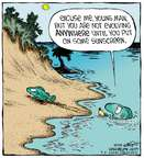 Cartoonist Dave Coverly  Speed Bump 2014-09-06 sunscreen