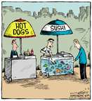 Cartoonist Dave Coverly  Speed Bump 2015-06-02 dog food
