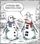 Cartoonist Dave Coverly  Speed Bump 2018-12-19 snowman