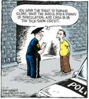 Cartoonist Dave Coverly  Speed Bump 2007-10-17 media frenzy