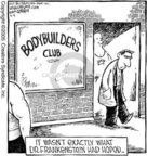 Cartoonist Dave Coverly  Speed Bump 2005-03-15 muscle