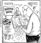 Cartoonist Dave Coverly  Speed Bump 2005-04-28 bargain shop