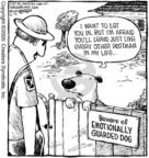 Cartoonist Dave Coverly  Speed Bump 2005-12-15 beware of dog