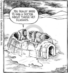 Cartoonist Dave Coverly  Speed Bump 2005-12-23 body temperature