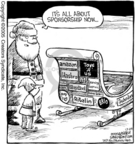 Cartoonist Dave Coverly  Speed Bump 2005-12-24 Christmas marketing