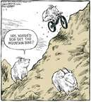 Cartoonist Dave Coverly  Speed Bump 2007-11-05 bicycle