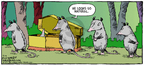 Cartoonist Dave Coverly  Speed Bump 2007-12-09 casket