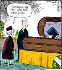 Cartoonist Dave Coverly  Speed Bump 2008-06-18 casket