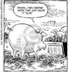 Cartoonist Dave Coverly  Speed Bump 2008-08-01 animal feed