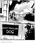 Cartoonist John Deering  Strange Brew 2008-03-24 beware of dog