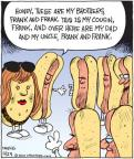 Cartoonist John Deering  Strange Brew 2010-11-23 hot dog