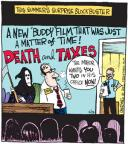 Cartoonist John Deering  Strange Brew 2012-06-15 death and taxes