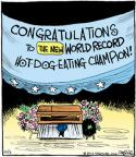 Cartoonist John Deering  Strange Brew 2012-10-03 hot dog