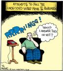 Cartoonist John Deering  Strange Brew 2012-11-02 undecided voter