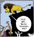 Cartoonist John Deering  Strange Brew 2013-02-15 African animal
