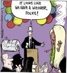Cartoonist John Deering  Strange Brew 2014-06-05 hot dog