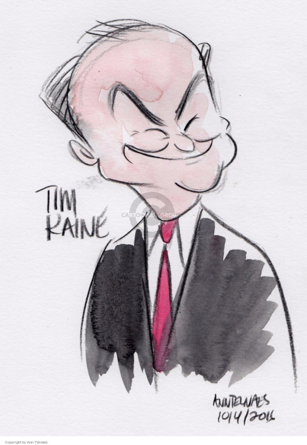 Tim Kaine.  (Live sketch from the vice presidential debate.)