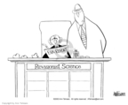 Cartoonist Ann Telnaes  Ann Telnaes' Editorial Cartoons 2003-06-22 science integrity