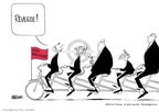 Cartoonist Ann Telnaes  Ann Telnaes' Editorial Cartoons 2003-07-09 bicycle