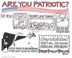 Cartoonist Ann Telnaes  Ann Telnaes' Editorial Cartoons 2008-02-26 flag