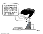 Cartoonist Ann Telnaes  Ann Telnaes' Editorial Cartoons 2008-03-01 Michael